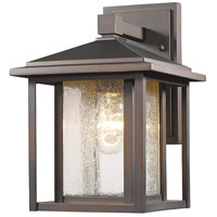Aspen 1 Light 11 inch Oil Rubbed Bronze Outdoor Wall Sconce