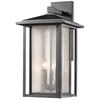 Aspen 3 Light 21 inch Black Outdoor Wall Sconce