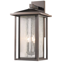 Aspen 3 Light 21 inch Oil Rubbed Bronze Outdoor Wall Sconce