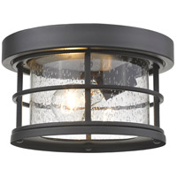 Z-Lite 555F-BK Exterior Additions 1 Light 10 inch Black Outdoor Flush Mount