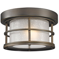 Signature 1 Light 10 inch Oil Rubbed Bronze Outdoor Flush Mount