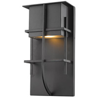 Stillwater LED 15 inch Black Outdoor Wall Sconce