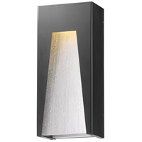 Z-Lite 561B-BK-SL-SDY-LED Millenial LED 18 inch Black Silver Outdoor Wall Sconce in Clear Seedy Glass