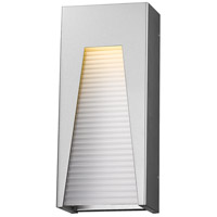 Millenial LED 18 inch Silver Outdoor Wall Sconce in Frosted Ribbed