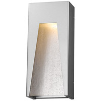Millenial LED 18 inch Silver Outdoor Wall Sconce in Clear Seedy Glass