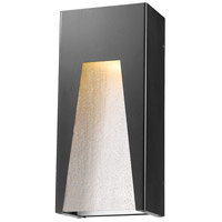Z-Lite 561M-BK-SL-SDY-LED Millenial LED 13 inch Black Silver Outdoor Wall Sconce in Clear Seedy Glass