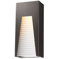 Millenial LED 13 inch Bronze Silver Outdoor Wall Sconce in Frosted Ribbed