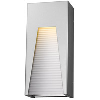 Millenial LED 13 inch Silver Outdoor Wall Sconce in Frosted Ribbed