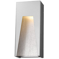 Millenial LED 13 inch Silver Outdoor Wall Sconce in Clear Seedy Glass