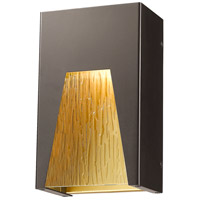 Millenial LED 10 inch Bronze Gold Outdoor Wall Sconce in Chisel