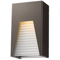Millenial LED 10 inch Bronze Silver Outdoor Wall Sconce in Frosted Ribbed