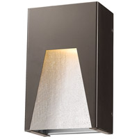 Millenial LED 10 inch Bronze Silver Outdoor Wall Sconce in Clear Seedy Glass