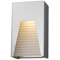 Millenial LED 10 inch Silver Outdoor Wall Sconce in Frosted Ribbed