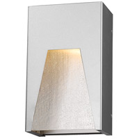 Millenial LED 10 inch Silver Outdoor Wall Sconce in Clear Seedy Glass