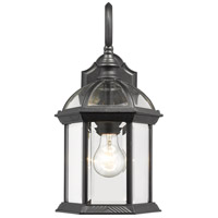 Z-Lite 563M-BK Annex 1 Light 16 inch Black Outdoor Wall Sconce photo thumbnail