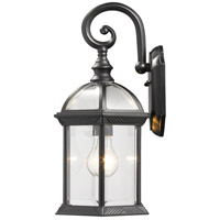 Z-Lite 563M-BK Annex 1 Light 16 inch Black Outdoor Wall Sconce alternative photo thumbnail