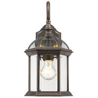Annex 1 Light 16 inch Rust Outdoor Wall Mount