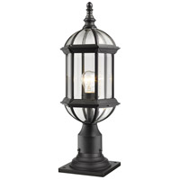 Annex 1 Light 22 inch Black Outdoor Pier Mount