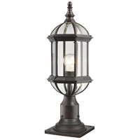 Z-Lite 563PHM-533PM-RT Annex 1 Light 22 inch Rust Outdoor Pier Mounted Fixture
