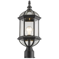 Z-Lite 563PHM-BK Annex 1 Light 20 inch Black Outdoor Post Mount Fixture