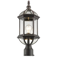 Z-Lite 563PHM-RT Annex 1 Light 20 inch Rust Outdoor Post Mount Fixture