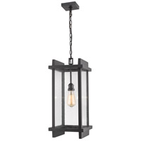 Z-Lite 565CHB-BK Fallow 1 Light 10 inch Black Outdoor Chain Mount Ceiling Fixture