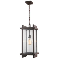 Z-Lite 565CHB-DBZ Fallow 1 Light 10 inch Deep Bronze Outdoor Chain Mount Ceiling Fixture