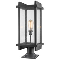 Z-Lite 565PHBR-533PM-BK Fallow 1 Light 27 inch Black Outdoor Pier Mounted Fixture