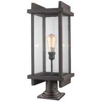 Z-Lite 565PHBR-533PM-DBZ Fallow 1 Light 27 inch Deep Bronze Outdoor Pier Mounted Fixture