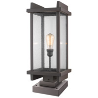 Z-Lite 565PHBS-SQPM-DBZ Fallow 1 Light 25 inch Deep Bronze Outdoor Pier Mounted Fixture