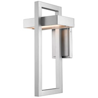 Luttrel 1 Light 18 inch Silver Outdoor Wall Sconce