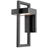 Z-Lite 566M-BK-LED Luttrel 1 Light 15 inch Black Outdoor Wall Sconce