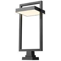 Z-Lite 566PHXLS-SQPM-BK-LED Luttrel LED 32 inch Black Outdoor Pier Mounted Fixture