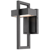 Z-Lite 566S-BK-LED Luttrel 1 Light 12 inch Black Outdoor Wall Sconce