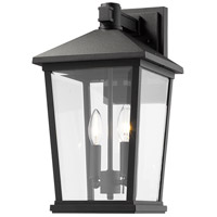 Z-Lite 568B-BK Beacon 2 Light 18 inch Black Outdoor Wall Sconce