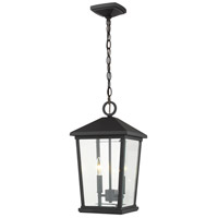 Z-Lite 568CHB-BK Beacon 2 Light 10 inch Black Outdoor Chain Mount Ceiling Fixture