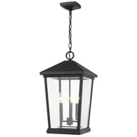 Z-Lite 568CHXL-BK Beacon 3 Light 12 inch Black Outdoor Pendant
