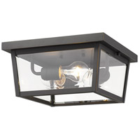 Z-Lite 568F-ORB Beacon 3 Light 12 inch Oil Rubbed Bronze Outdoor Flush Ceiling Mount Fixture