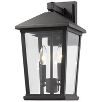 Z-Lite 568M-BK Beacon 2 Light 15 inch Black Outdoor Wall Sconce