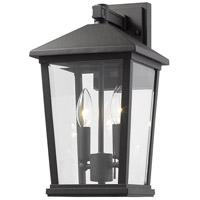 Z-Lite 568M-BK Beacon 2 Light 15 inch Black Outdoor Wall Sconce