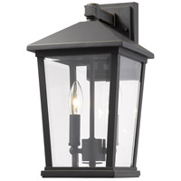 Z-Lite 568M-ORB Beacon 2 Light 15 inch Oil Rubbed Bronze Outdoor Wall Sconce