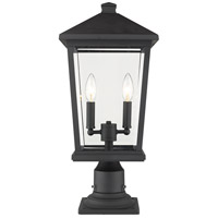 Z-Lite 568PHBR-533PM-BK Beacon 2 Light 21 inch Black Outdoor Pier Mounted Fixture