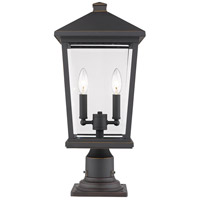 Z-Lite 568PHBR-533PM-ORB Beacon 2 Light 21 inch Oil Rubbed Bronze Outdoor Pier Mount