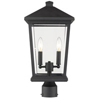 Z-Lite 568PHBR-BK Beacon 2 Light 20 inch Black Outdoor Post Mount