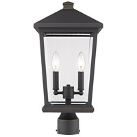 Z-Lite 568PHBR-ORB Beacon 2 Light 20 inch Oil Rubbed Bronze Outdoor Post Mount Fixture