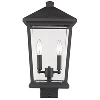 Z-Lite 568PHBS-BK Beacon 2 Light 20 inch Black Outdoor Post Mount Fixture