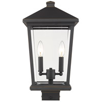 Z-Lite 568PHBS-ORB Beacon 2 Light 20 inch Oil Rubbed Bronze Outdoor Post Mount Fixture
