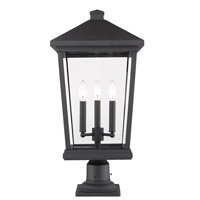 Z-Lite 568PHXLR-533PM-BK Beacon 3 Light 25 inch Black Outdoor Pier Mount