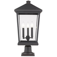 Z-Lite 568PHXLR-533PM-ORB Beacon 3 Light 25 inch Oil Rubbed Bronze Outdoor Pier Mounted Fixture