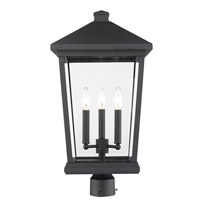 Z-Lite 568PHXLR-BK Beacon 3 Light 24 inch Black Outdoor Post Mount Fixture